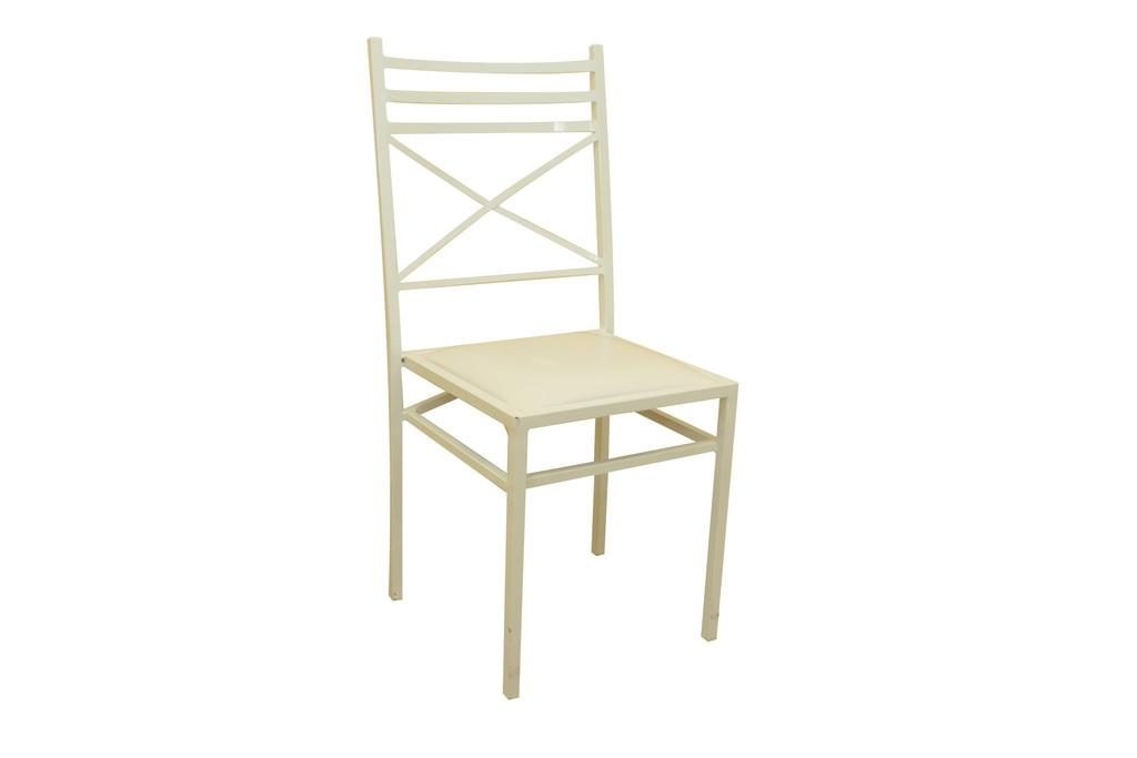 Cadeira de ferro branca
