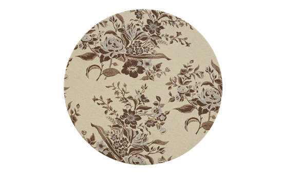 Sousplat cappuccino floral