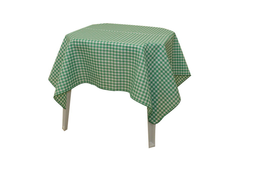 Toalha Xadrez Verde 1,40 x 1,40